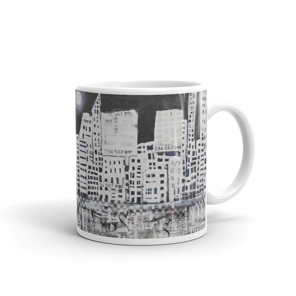 City in Black and White Mug