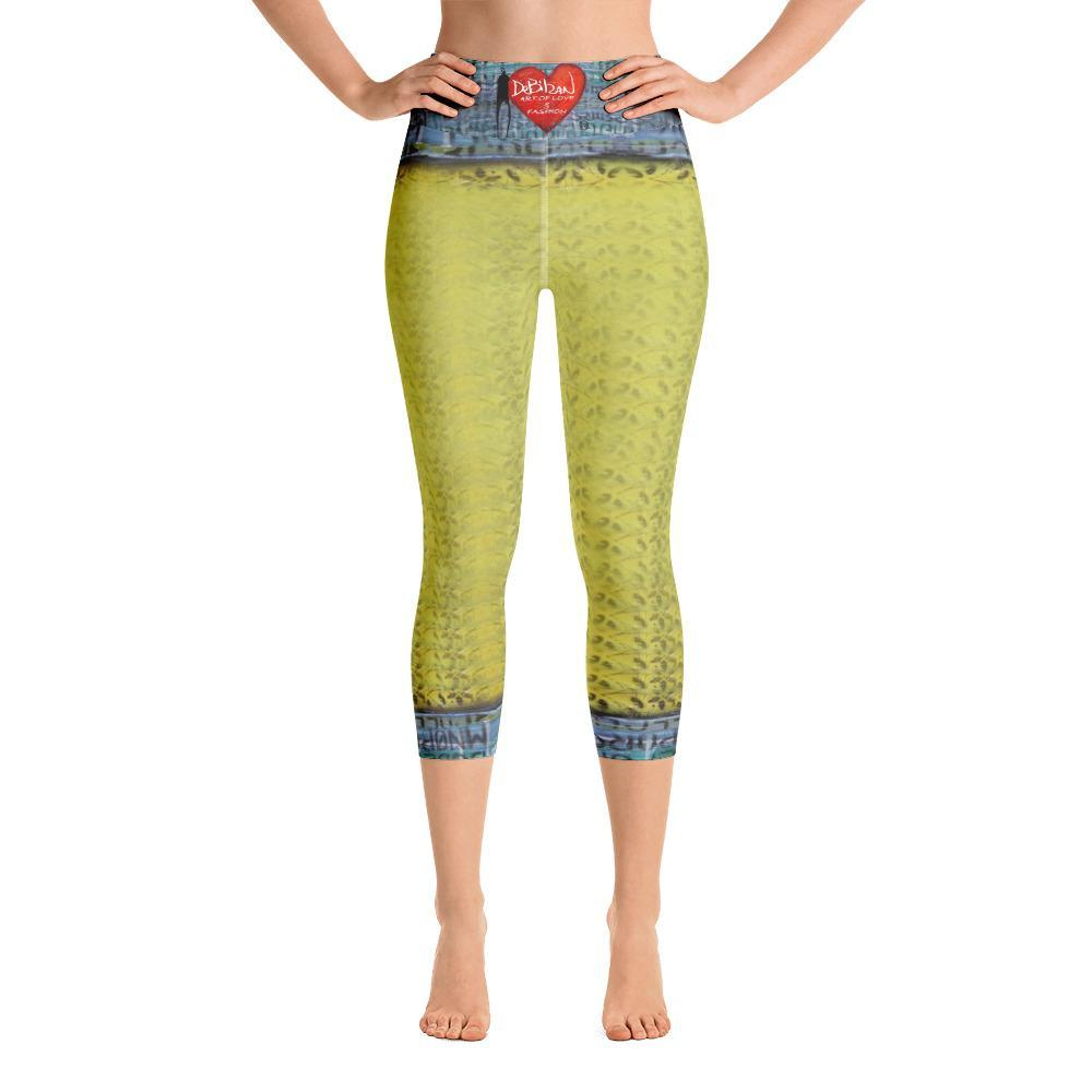 DeBilzan Don't stop the Love Yoga Capri Leggings