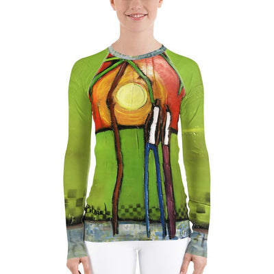 DeBilzan IGYF Sunset on The Island Women's Rash Guard