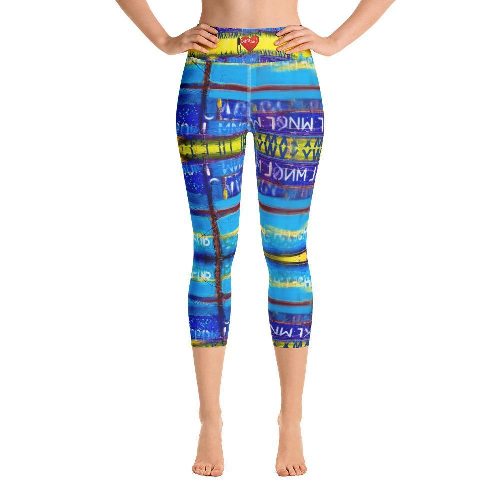 DeBilzan Yellow Mellow Yoga Capri Leggings