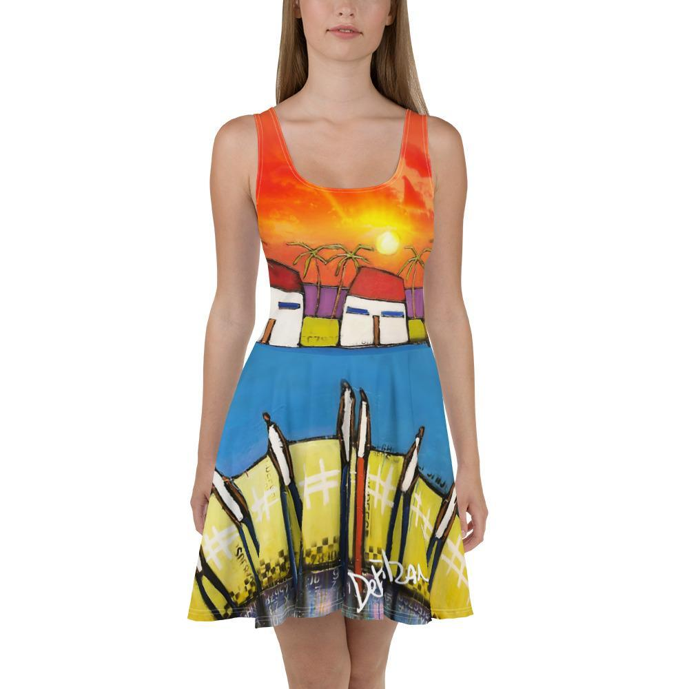 Somewhere In Paradise Skater Dress - DeBilzan Gallery