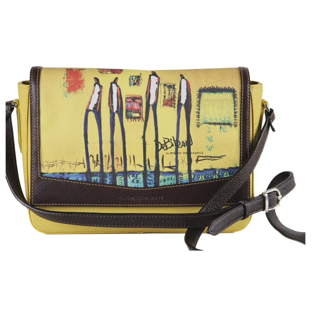 handbag Flip Top Yellow Satchel