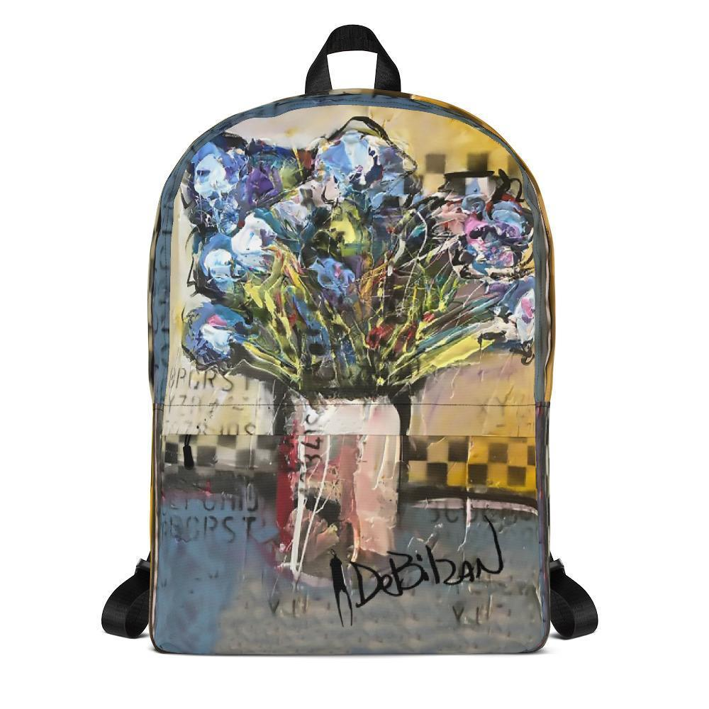 Purple Floral Backpack - DeBilzan Gallery