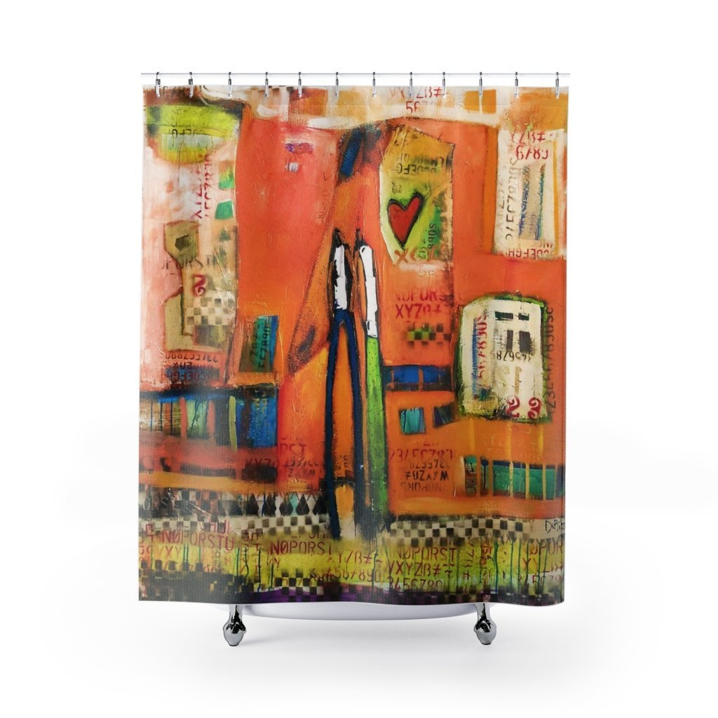 Tangerine Love Shower Curtain