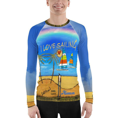 I Love Sailing Men's Rash Guard - DeBilzan Gallery