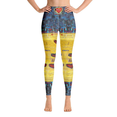 Leggings Yoga Sets DeBilzan All You Need Is Love Yoga Leggings