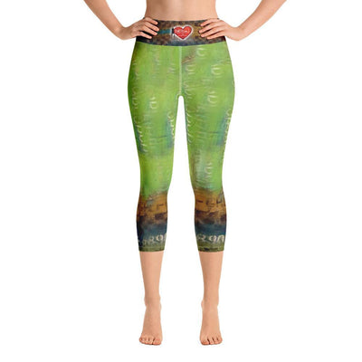Leggings Yoga Sets DeBilzan Right Behind U Yoga Capri Leggings