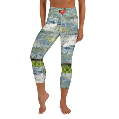 Leggings Yoga Sets, Leggings DeBilzan IGYF Sunset on the Island Yoga Capri Leggings
