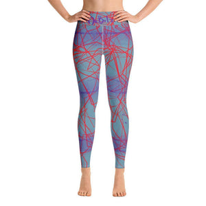 Line Abstract Yoga Leggings