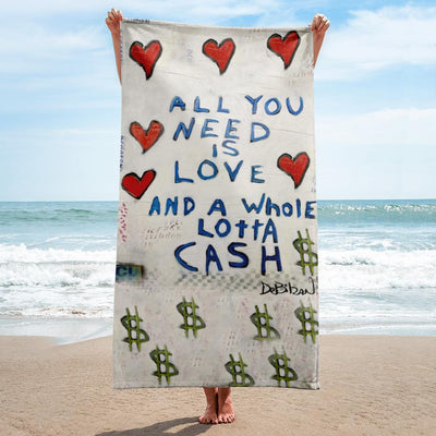 Love And Cash (New Print) Towel