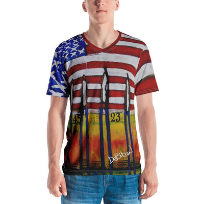 Land of Liberty  V-Neck Tee - DeBilzan Gallery