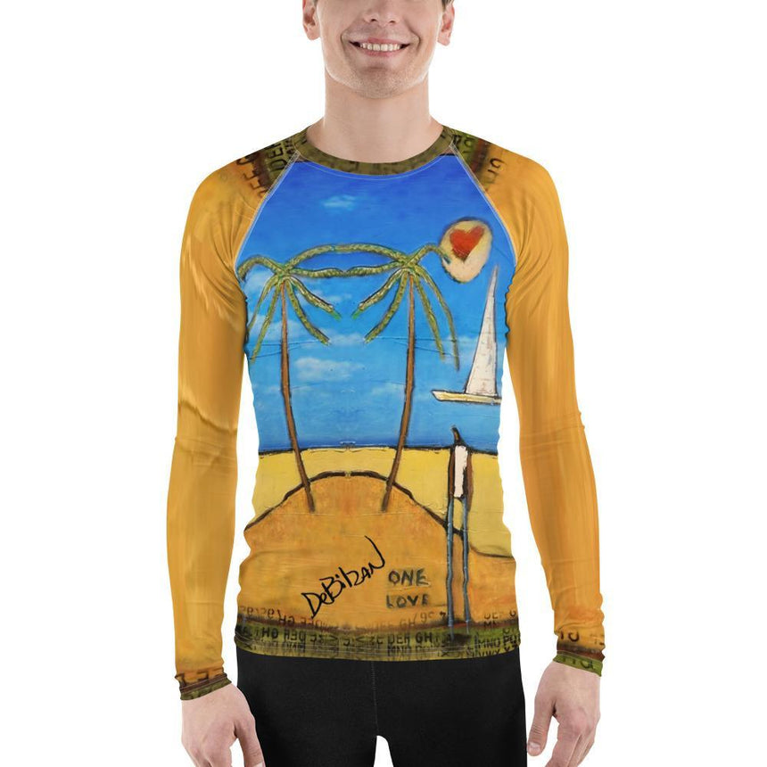Men Shirts One Love Men's Rash Guard