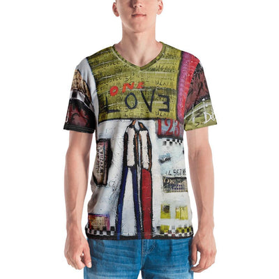 One Love  V-Neck Tee - DeBilzan Gallery