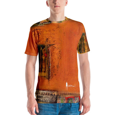 Mens V-Neck Tee Written On the Wall Men's T-shirt