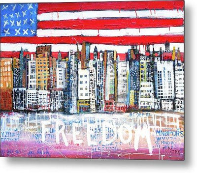 Metal Print Freedom NEW  - Metal Print
