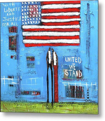 Metal Print Liberty and Justice  - Metal Print