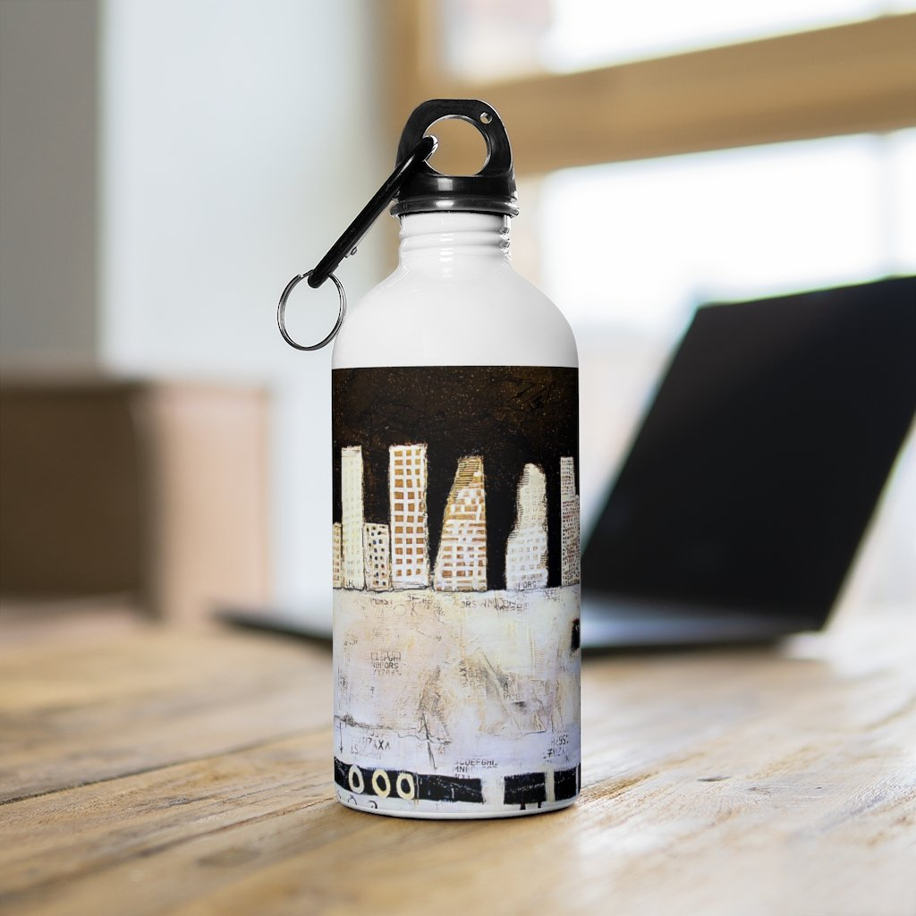 Night Skyline Stainless Steel Water Bottle