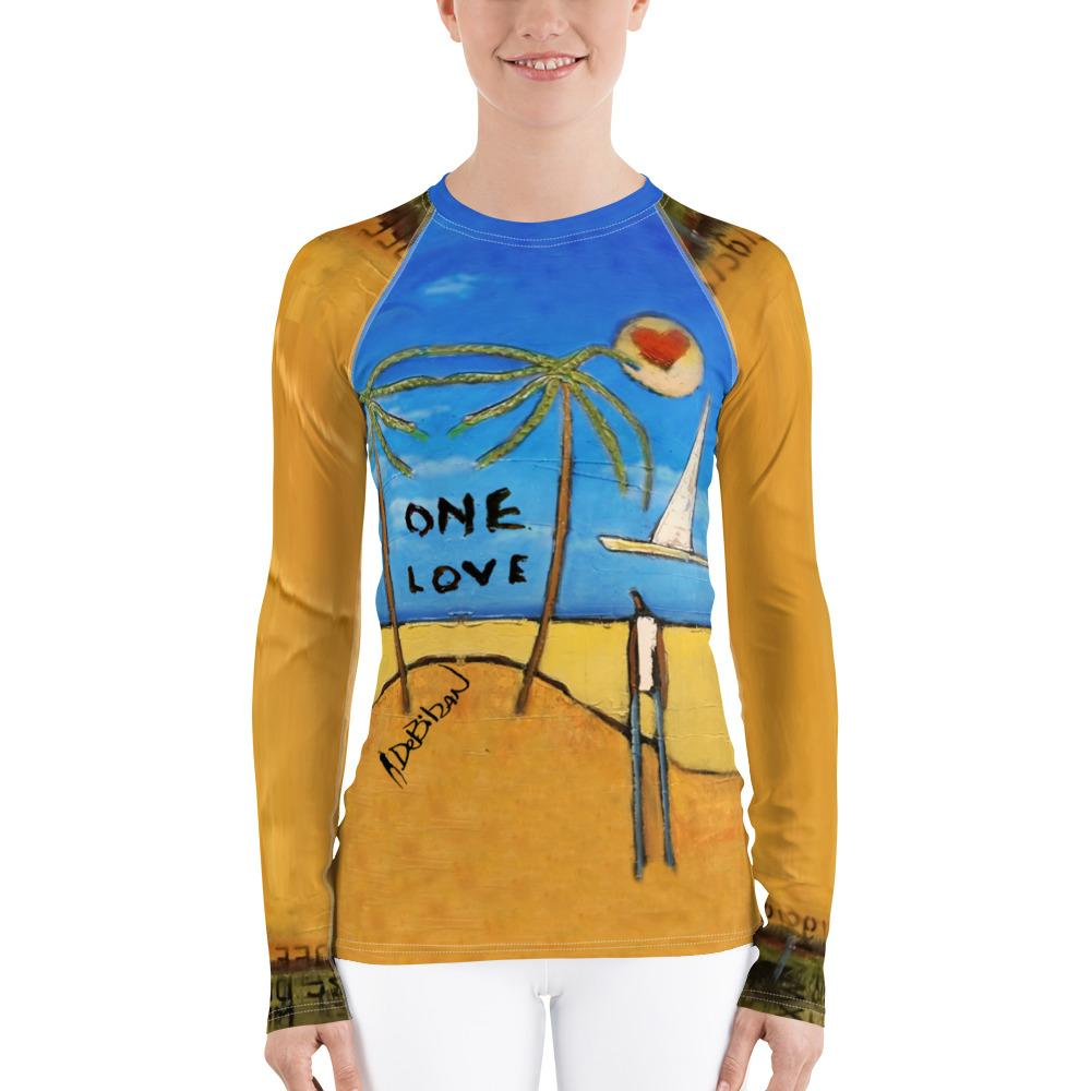 One Love Women's Rash Guard
