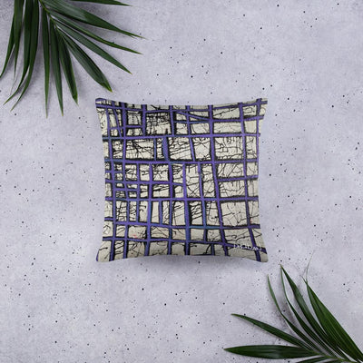 Purple Abstract Pillow