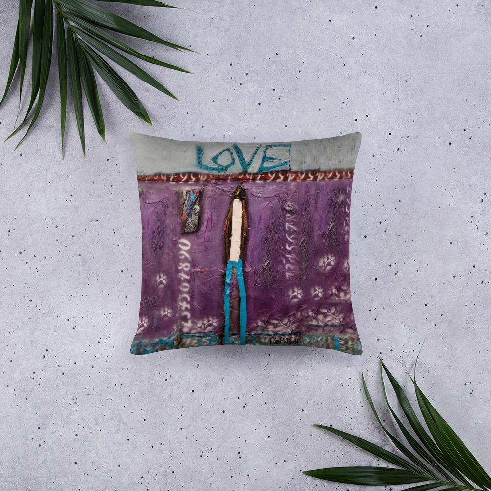 Purple Love Pillow