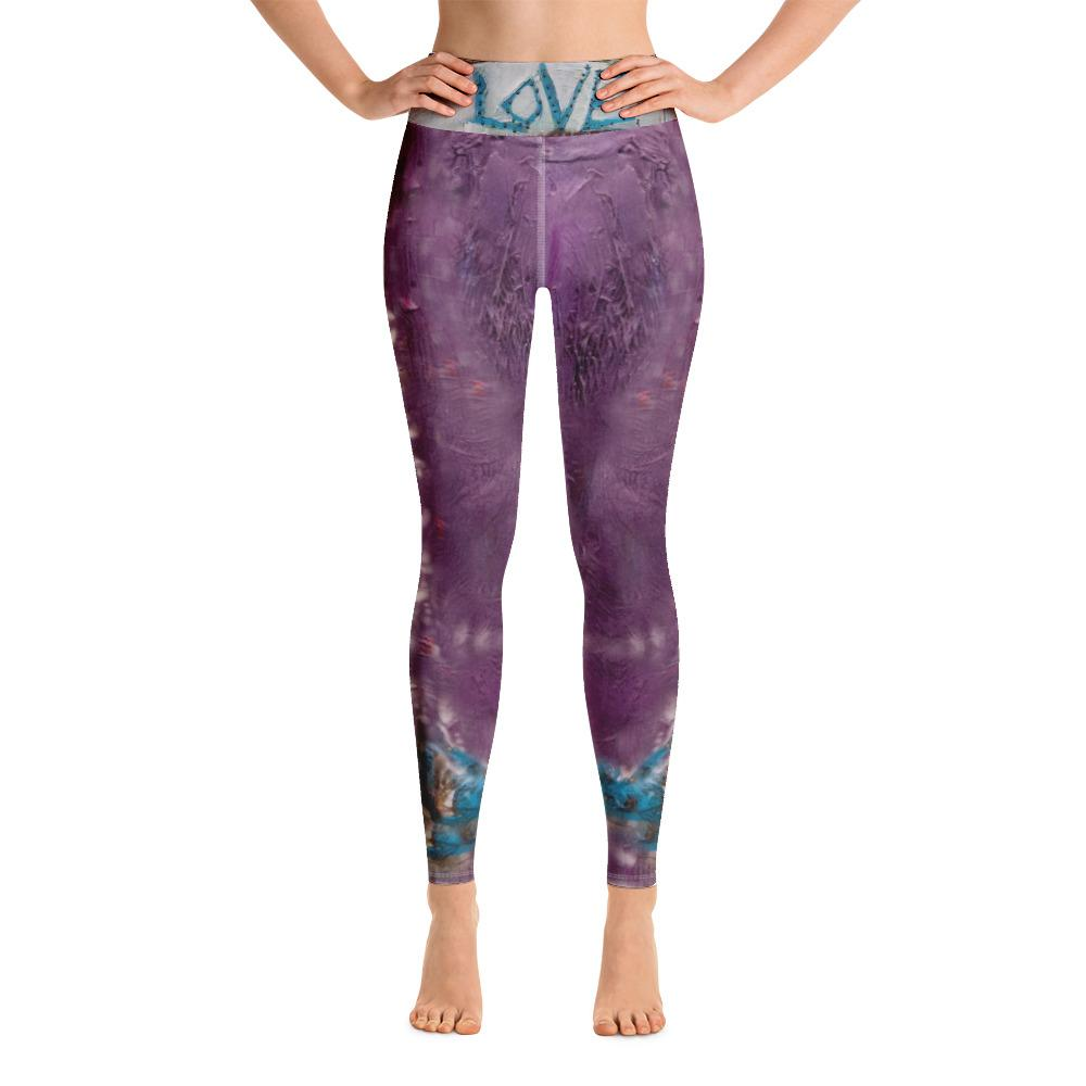Purple Love Yoga Leggings