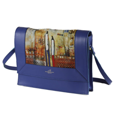 Flip Top Blue Satchel - DeBilzan Gallery