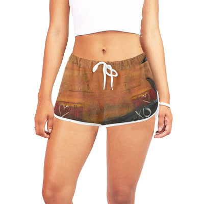 Shorts hugsandkisses-womens workou shorts Women's All Over Print Casual Shorts (Model L19)