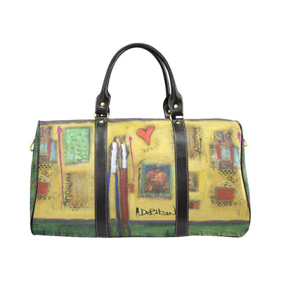 Travel Bags DeBilzan Yellow Abstract Travel Bag(Small)