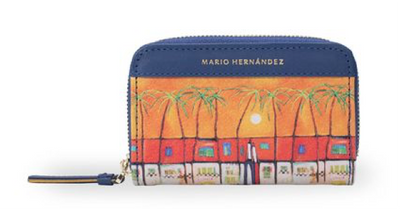 Wallet Color Sunset Zip Wallet
