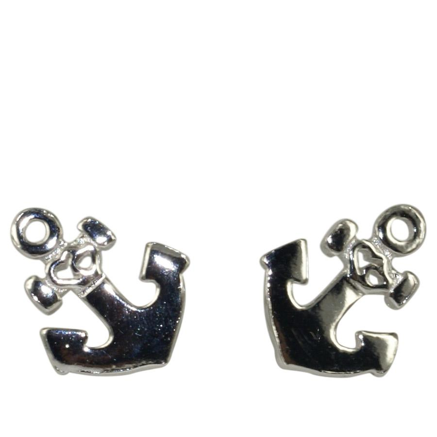 Earring with Anchor in sterling silver