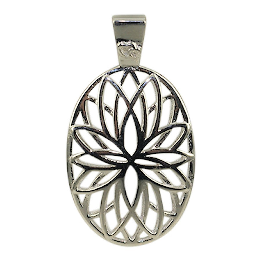 Pendant with the Flower of Life sterling silver
