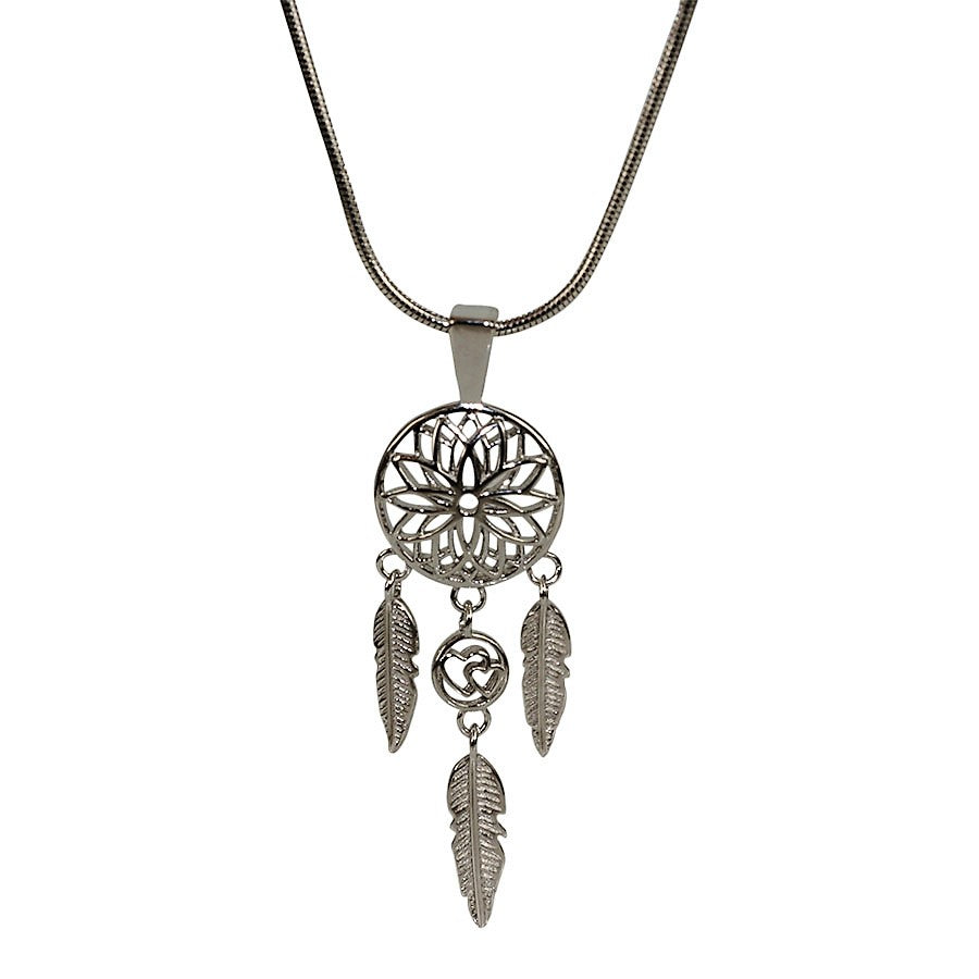 Dream catcher pendant in sterling silver