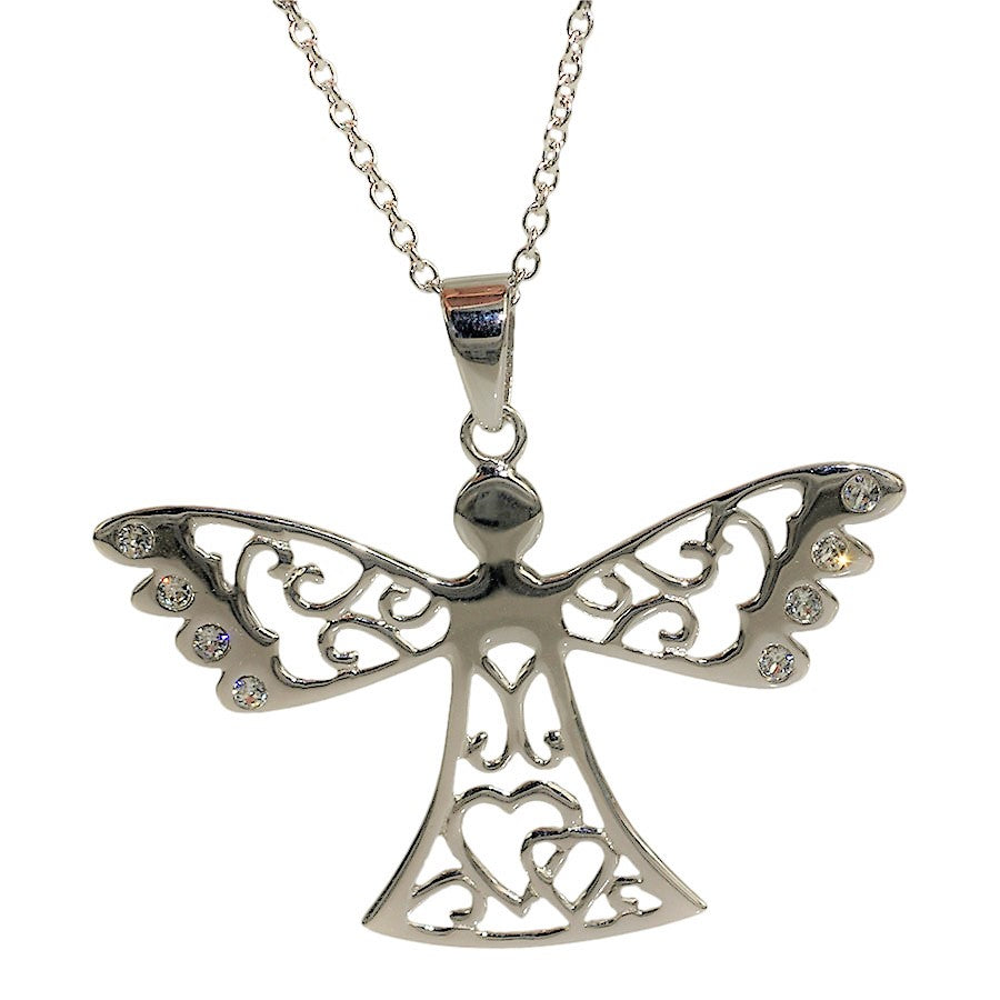 Guardian Angels pendant in sterling silver, large model