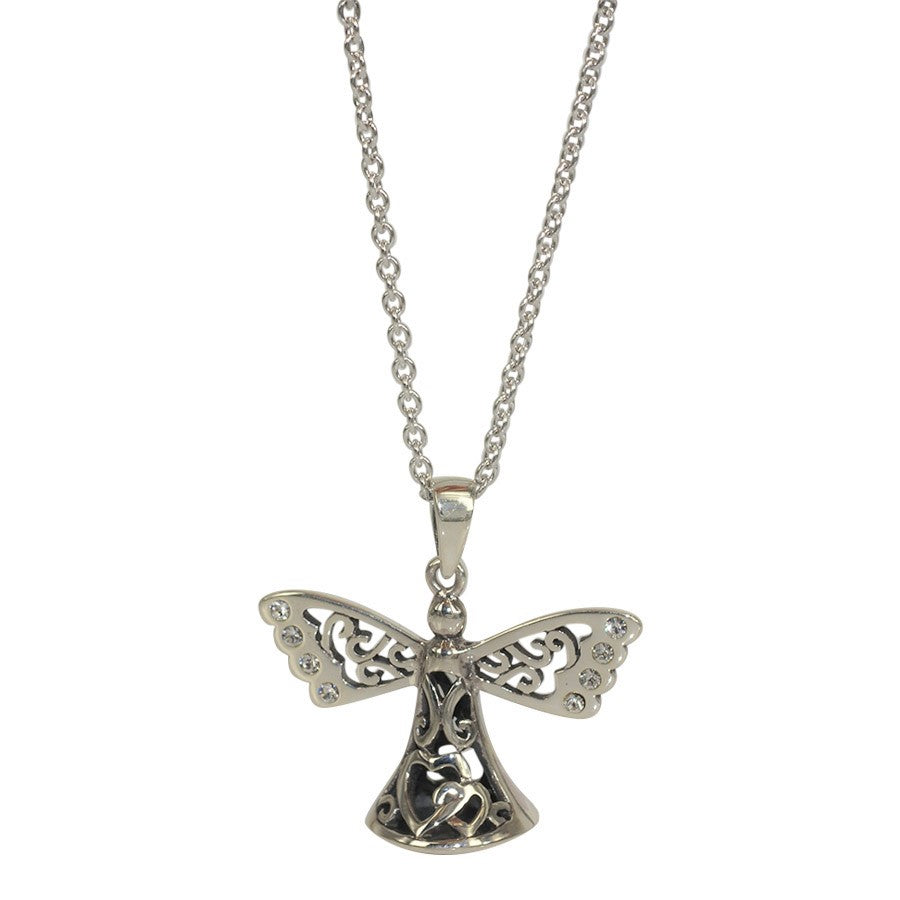 Guardian Angel in 3D sterling silver