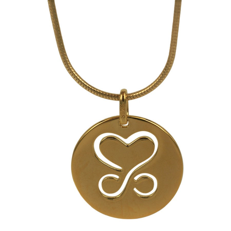 LIMITED EDITION 2020. Pendant Love and Eternity. Pendant in gold-plated silver