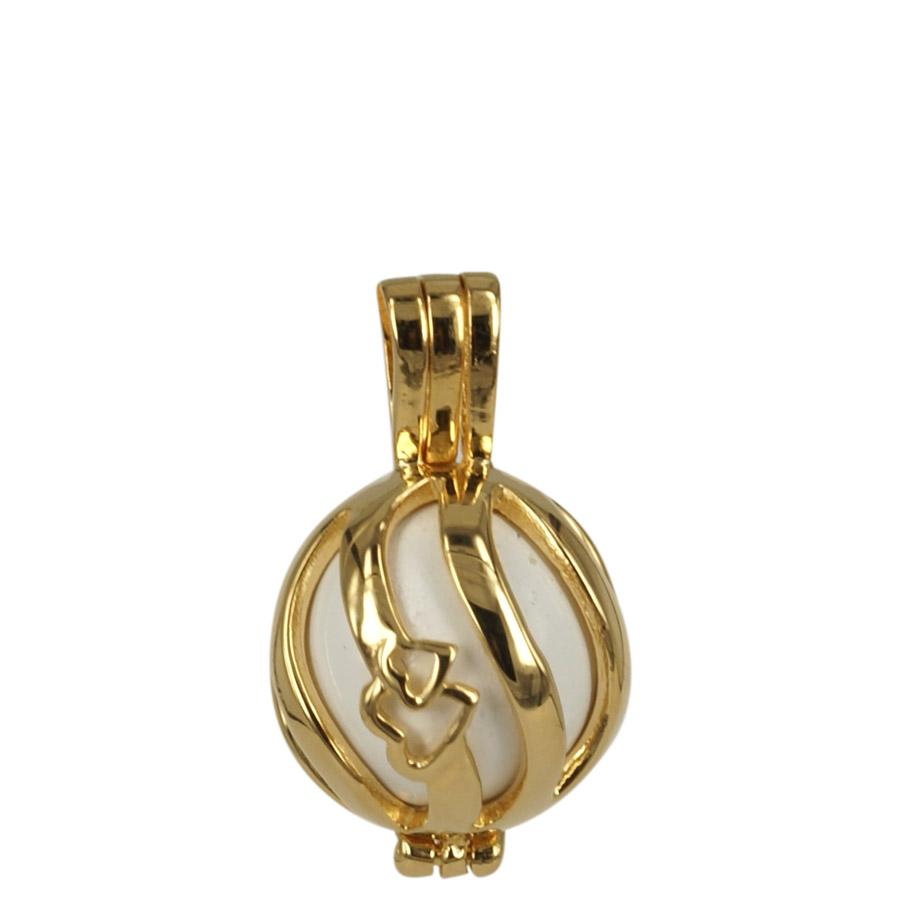 Angel Caller (small model) in gold plated sterling silver. Eternity2