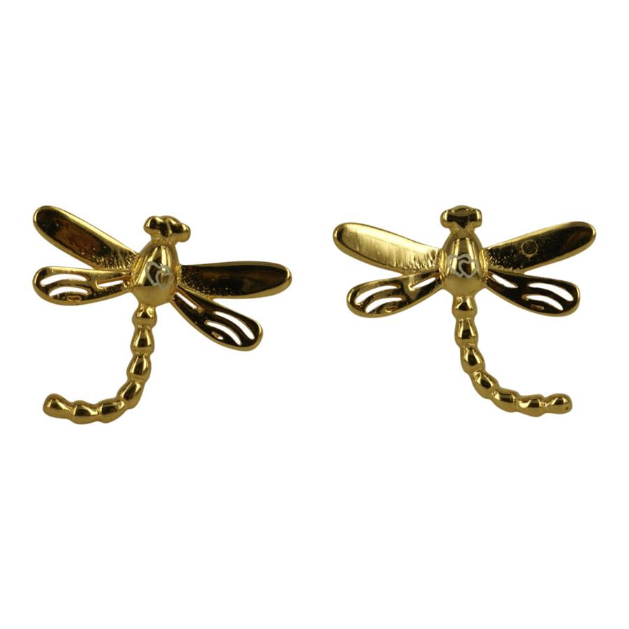 Earrings with Dragonfly gold plated silver