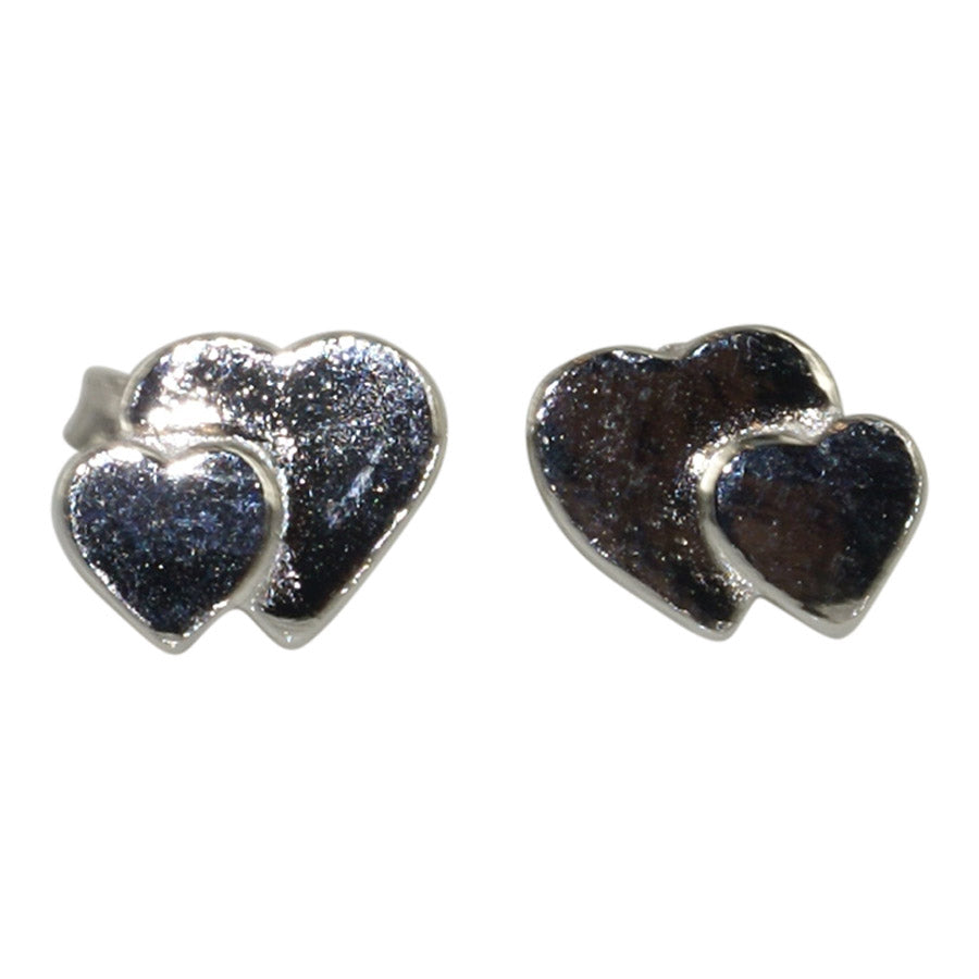 Heart earrings in sterling silver