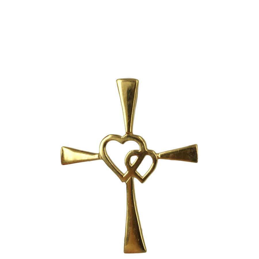 Cross pendant in gold plated sterling silver