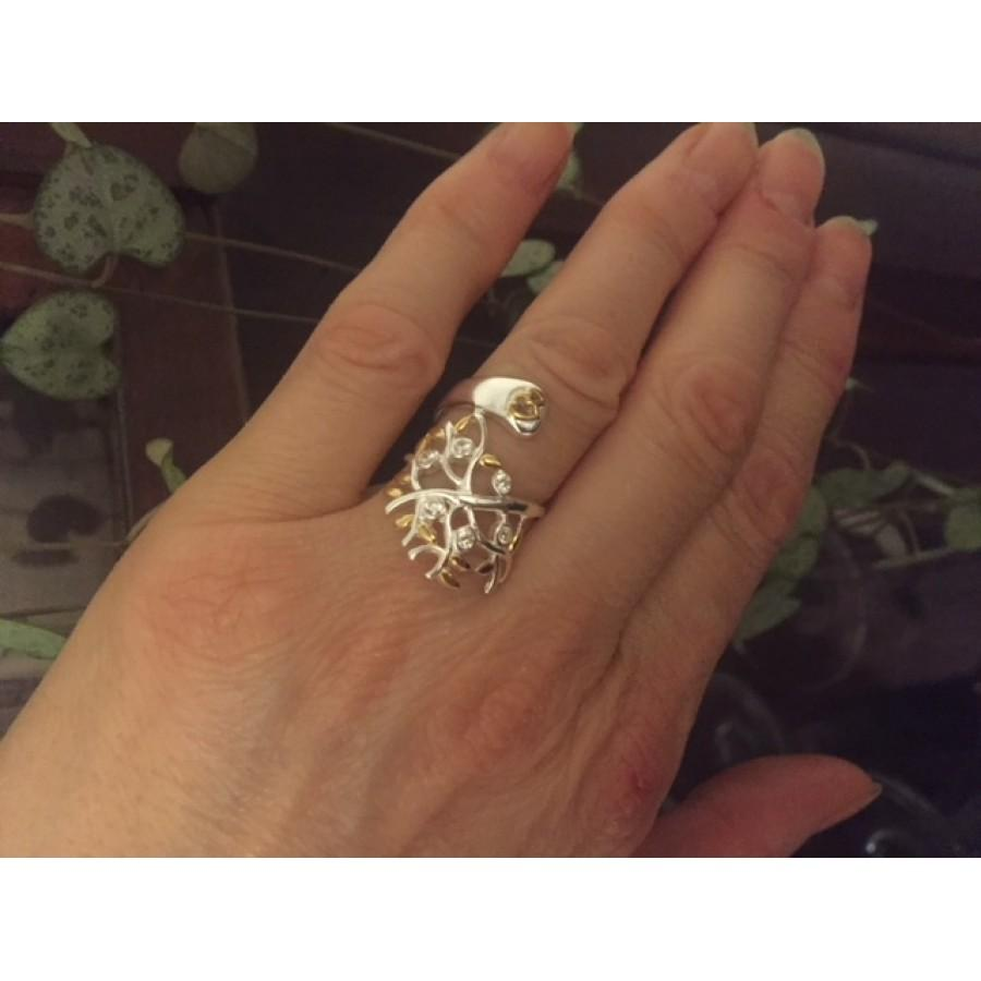 The Tree of Life sterling silver (large ring)