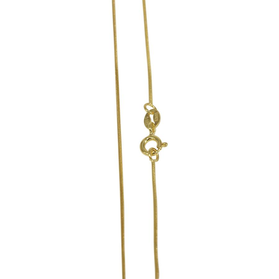 Necklace snake chain gold plated sterling silver thickness 1 mm