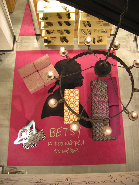 Betsy Ross, Custom carpet, Barneys New York, Philadelphia, P.A. 2005