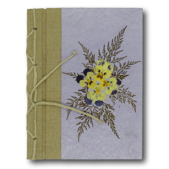 Pressed Flower Journal Violet
