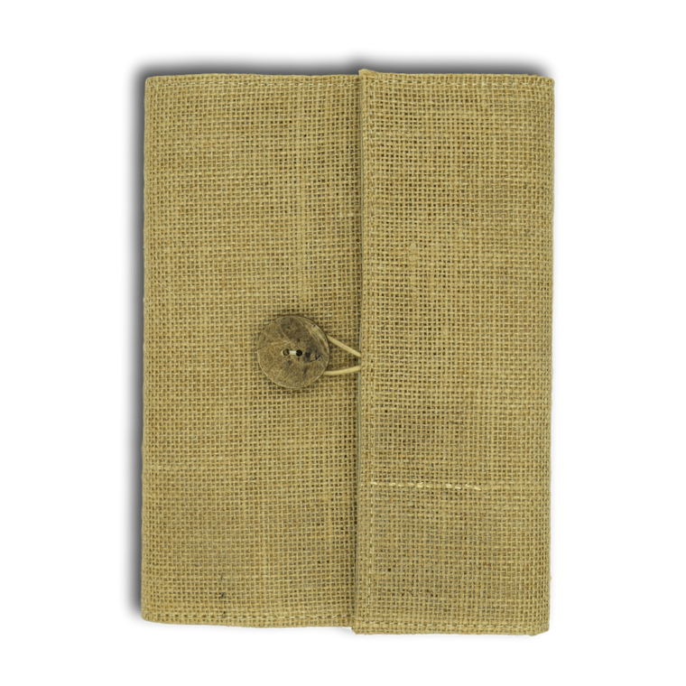Burlap Jute Journal Brown