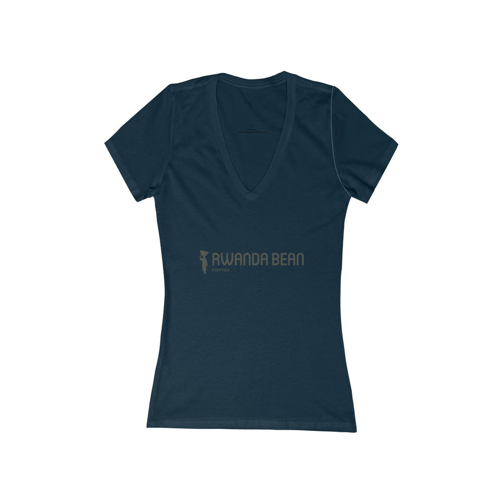 Women's Jersey Short Sleeve Deep V-Neck Tee