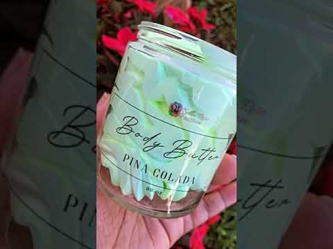 Load and play video in Gallery viewer, Body Butter ( Pina Colada )