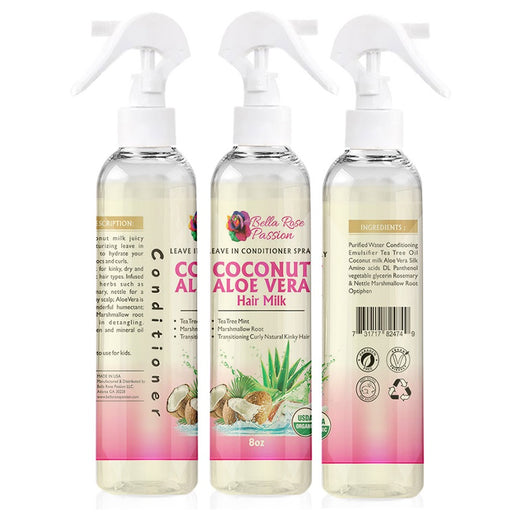 Coconut Aloe Vera Hair Milk - Bella Rose Passion