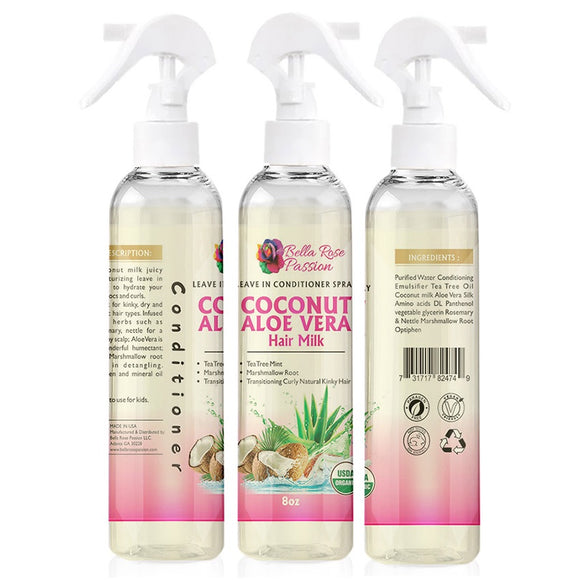 Coconut Aloe Vera Hair Milk - Bella Rose Passion LLC