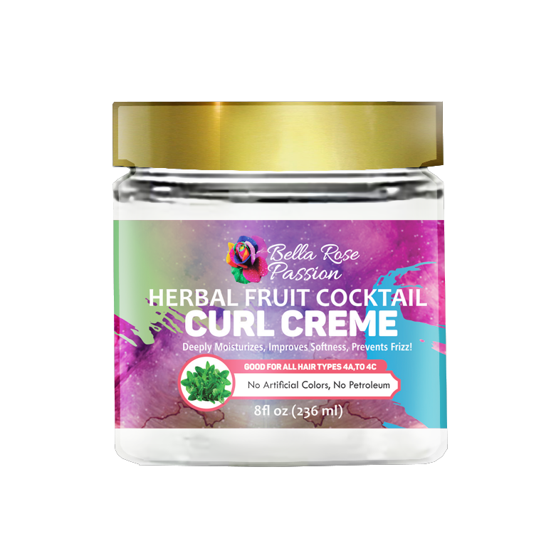 Herbal Fruit Cocktail Hair Curl Creme - Bella Rose Passion