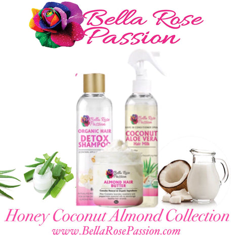 Honey Coconut Almond Hair Collection - Bella Rose Passion LLC